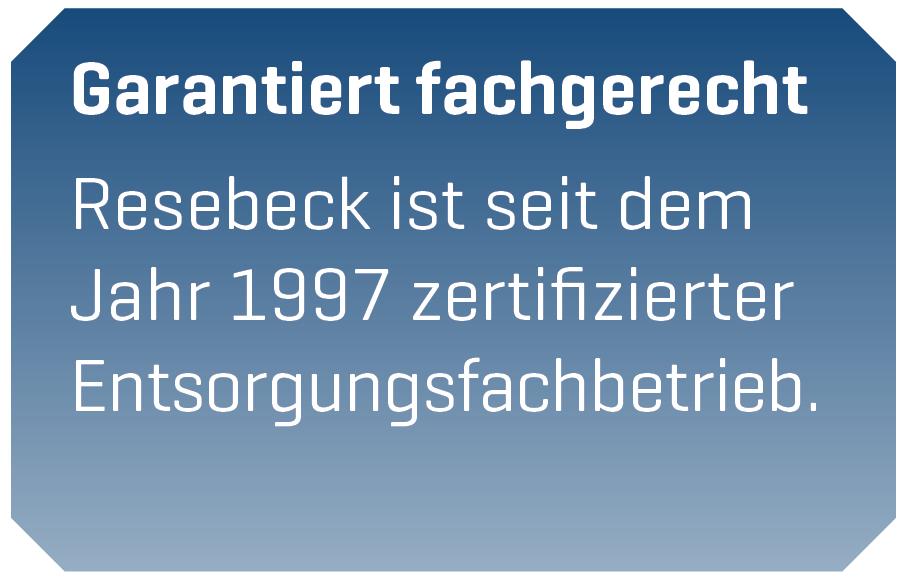 Entsorgungsfachbetrieb Göttingen - Resebeck