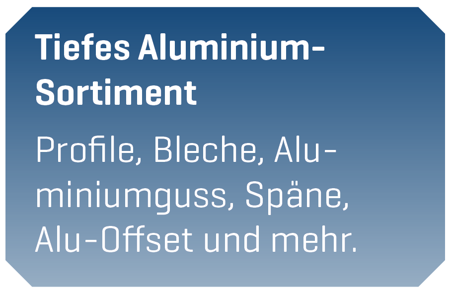 Aluminium Sortiment Göttingen - Resebeck Entsorgungsfachbetrieb