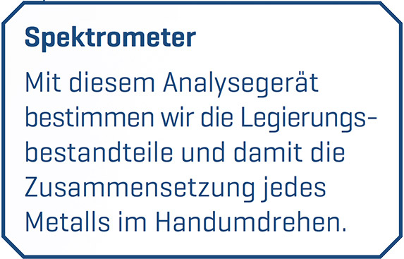 Spektrometer NE-Metalle Entsorgung Göttingen - Resebeck