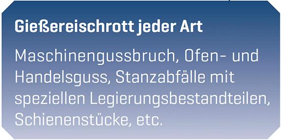 Gießereischrott Entsorgung Göttingen - Resebeck